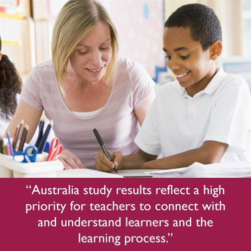 Australian study results reflect a high priority for teachers to connect with and understand learners and the learning process.