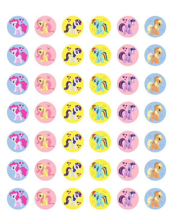 My Little Pony    Printable 1 Bottle Caps by ElleCoutureCreations, $1.49