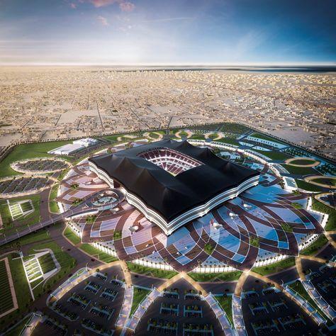 Progetto dello stadio Al Bayt per Qatar 2022