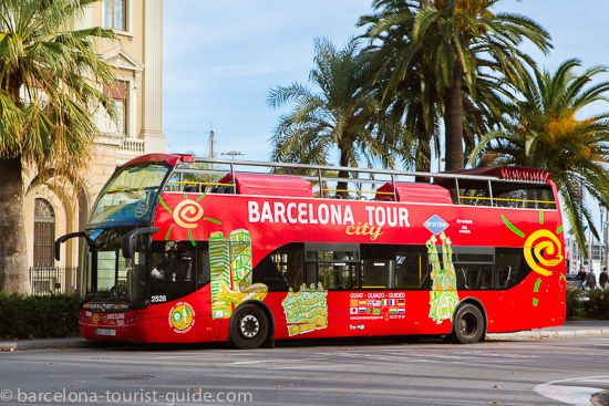 The Barcelona Tours bus leaving