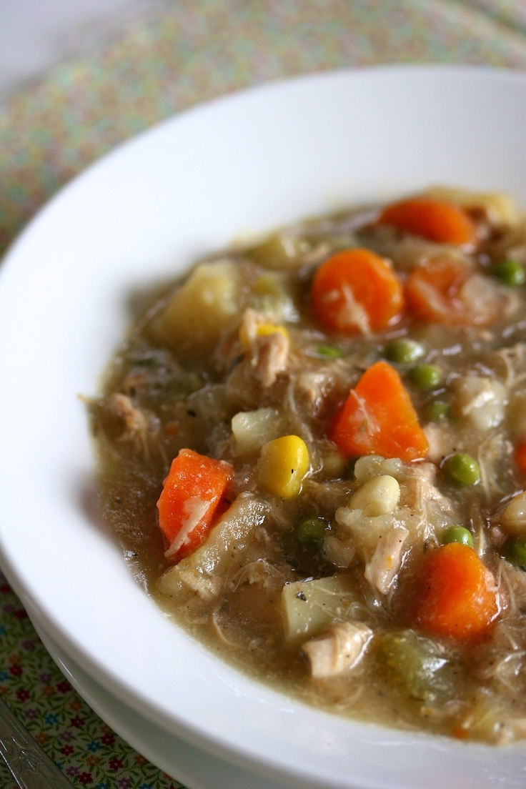 Slow Cooker Chicken Stew | Soups and Stews | Pinterest