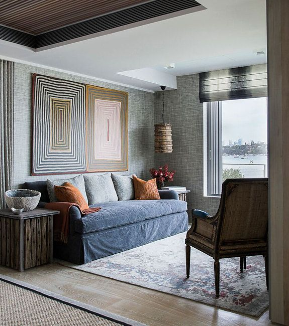 Interior Designer Marylou Sobel Featured Driftwood 6206 Heather Grey In The Living Room Of A Clients Home
