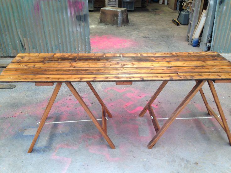 Restored Murray pine trestle with iron bark legs
