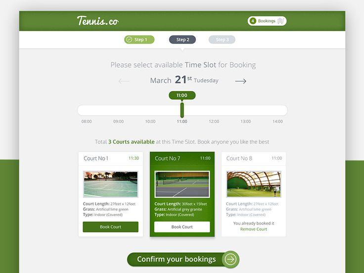 Tennis Court Booking System App