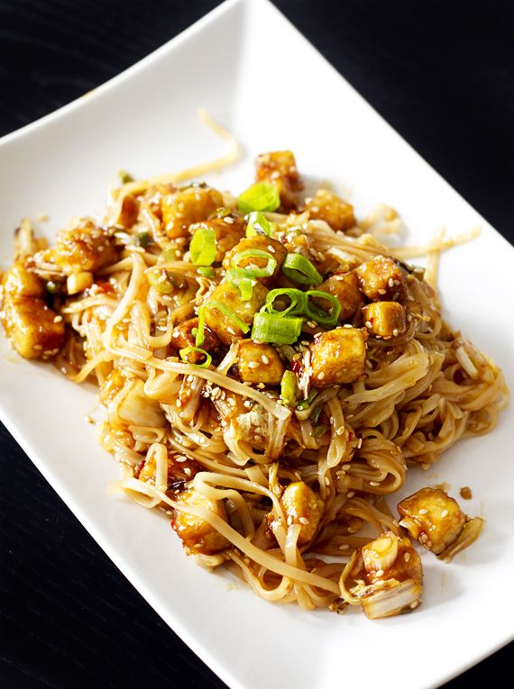 Outrageously GOOD SWEET CHILI TOFU WITH SOBA NOODLES