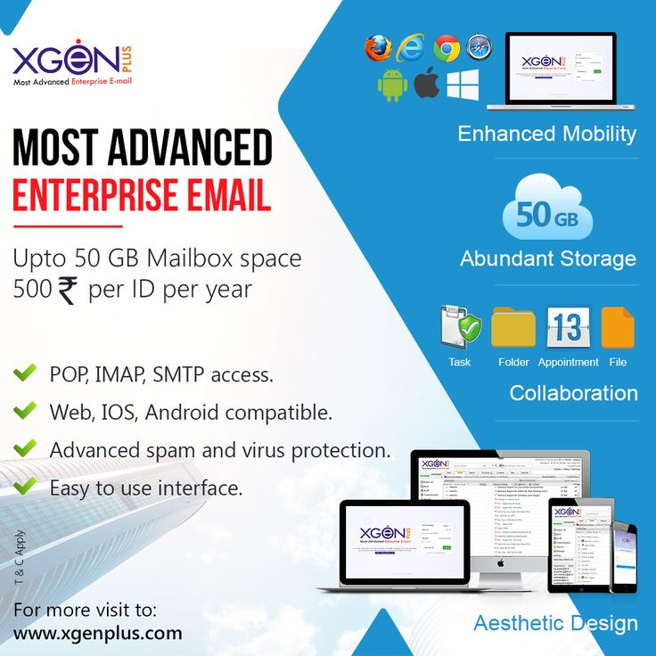 #Xgenplus - Most advance, secure, flexible email solution for your business need Buy at:  http://bit.ly/2ArU1yx  Learn more at: http://bit.ly/2cX3mjy  #xgenplus #enterpriseemail #emailsolution #secureemail #advanceemailsolution