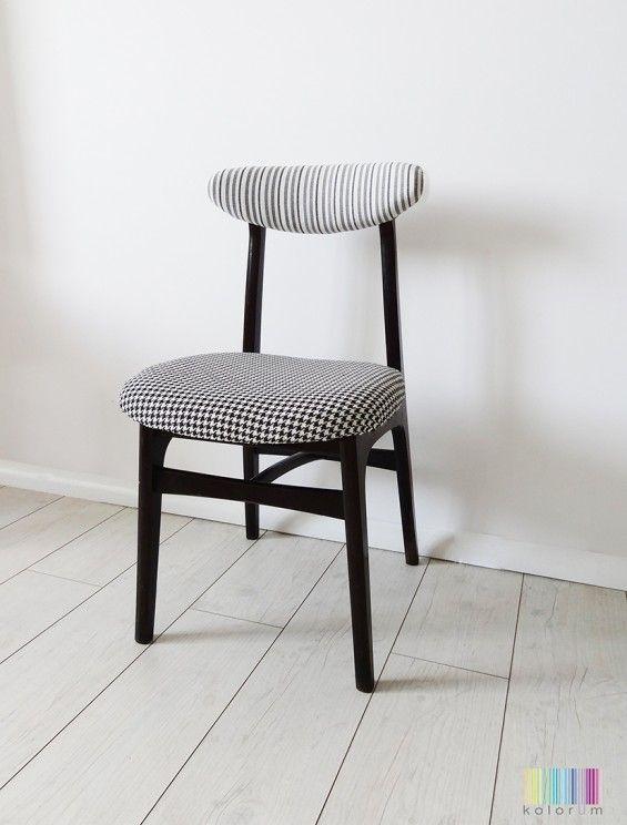 Klasyczne krzesło z PRL- lata 70- te vintage ty - Kolorum -