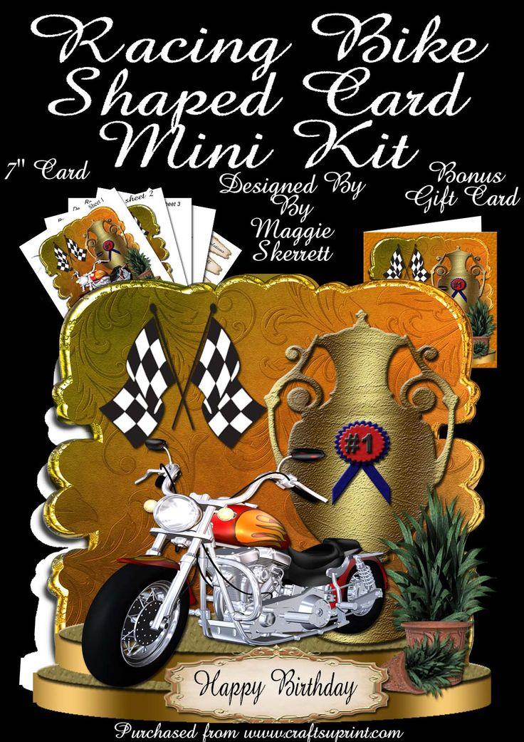 Motorbike Shaped Card Kit