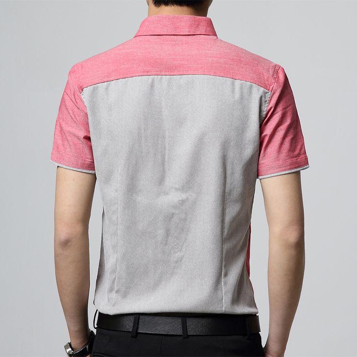 ซื้อ 2017 New Fashion Casual Men Formal Shirt Short Sleeve Patchwork Slim Fit Shirt Men High Quality Cotton Mens Dress Shirts Men Clothes (Red) - intl ผ่านระบบออนไลน์ที่ Lazada เรามีส่วนลดและโปรโมชั่นอีกมากมายใน