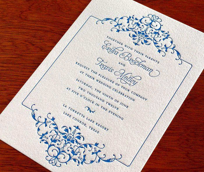 Erika letterpress wedding invitation by invitations by for Most formal wedding invitations