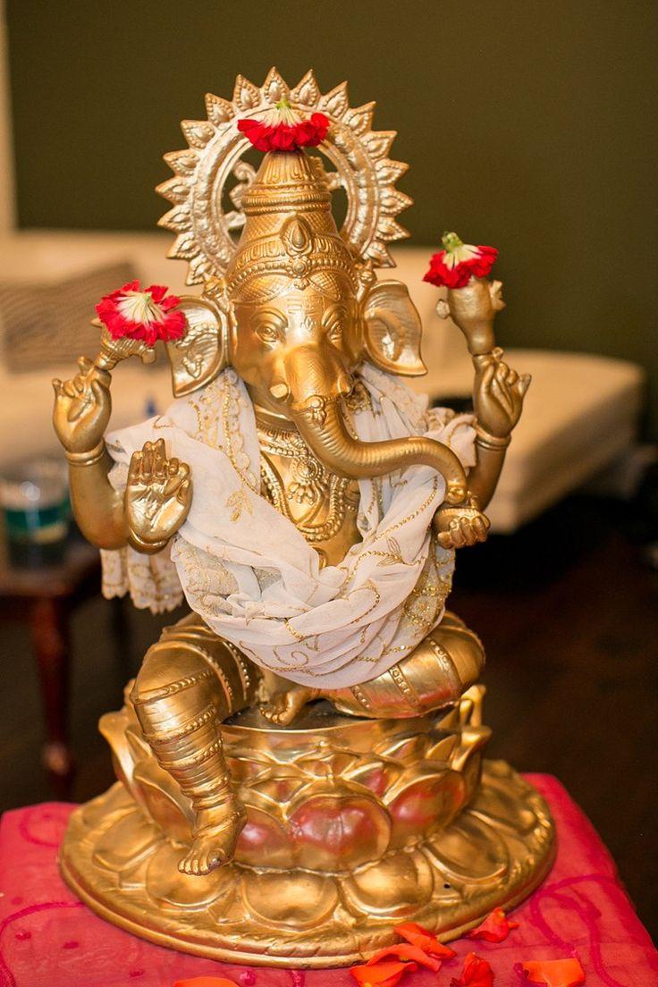 bronze statue of ganesha - hindu god