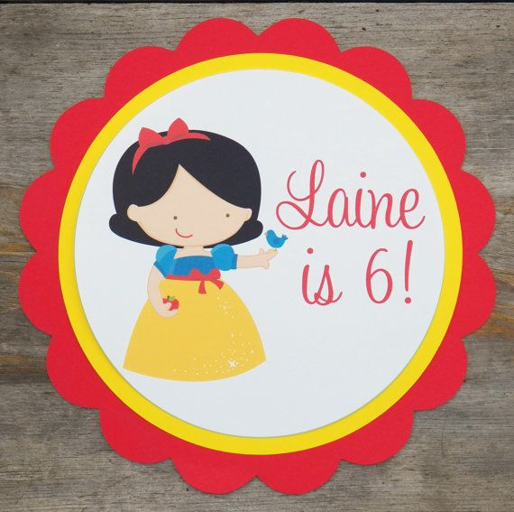 Snow White Party Sign Personalized Snow White by TheBirthdayHouse, $8.00