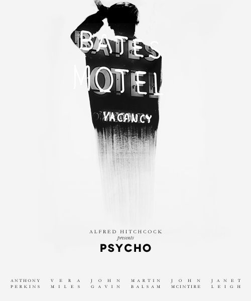 Psycho – Alfred Hitchcock, via From up North