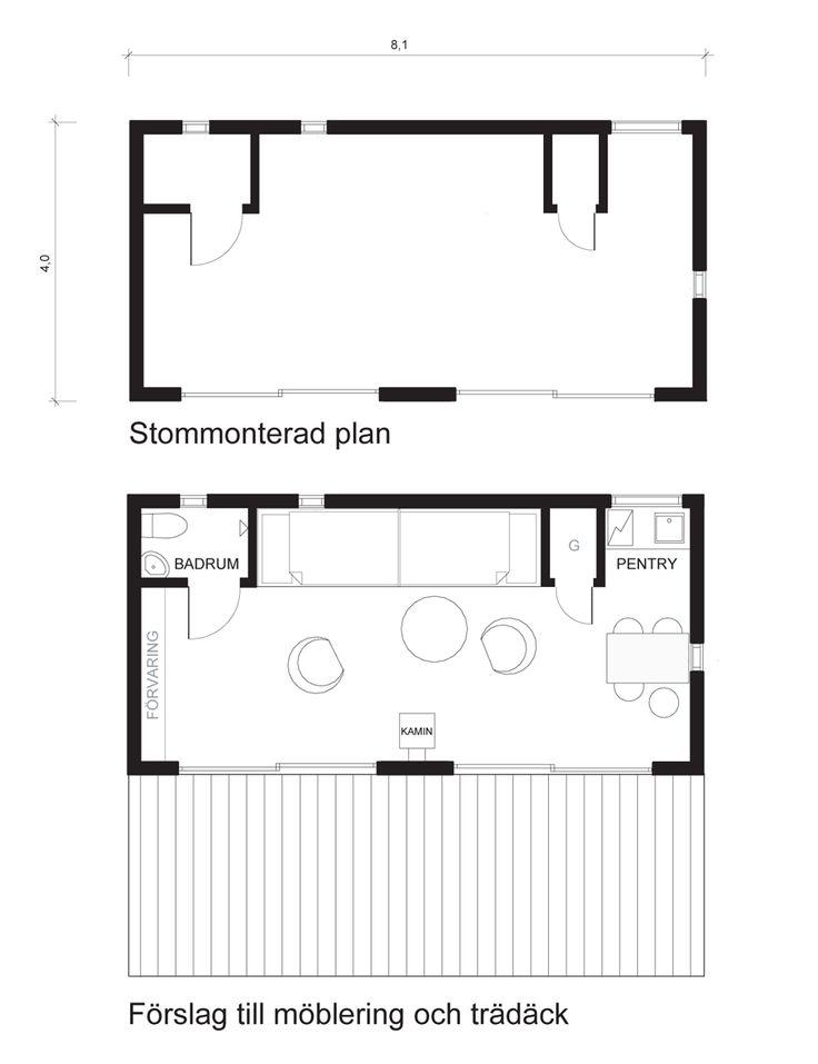 Prosit, ett litet och väl genomtänkt husritat av Arkitektgruppen Snövit . Sju små hus för olika behov, belägenheteroch sinnes-stämningar.
