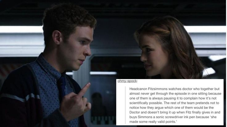 Headcanon Fitzsimmons || Leo Fitz, Jemma Simmons || Text Posts || #fanedit #humor #fitzsimmons