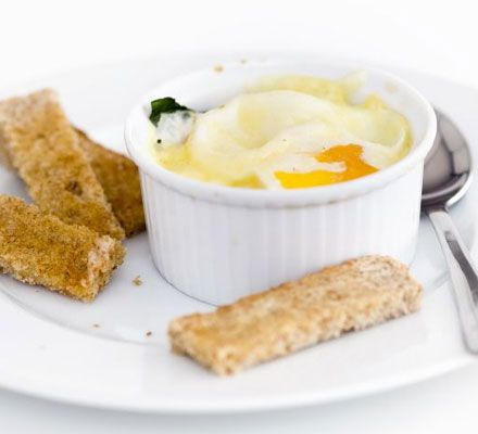 Baked dippy eggs - This fun easy recipe has been specially created for kids aged 3-6 so they can make you breakfast : )