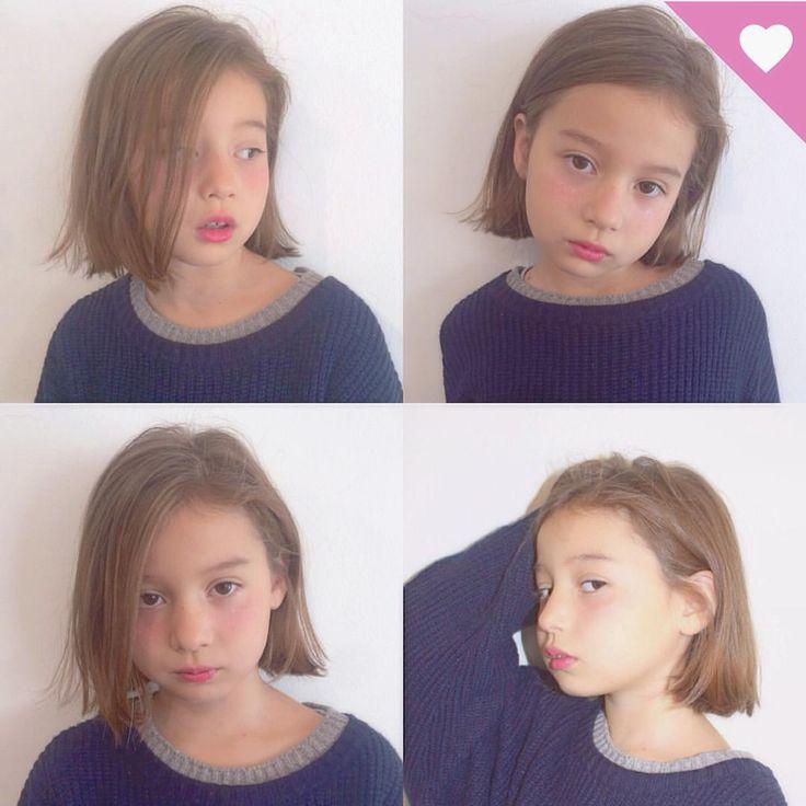 Instagram 上的 Mayaka:「 . 大好評 Noaちゃんの #切りっぱなしボブ ✂︎ . . . #ヘアー #カラー #ボブ #スタイル #外国人風 #作品撮り #hair #style #color