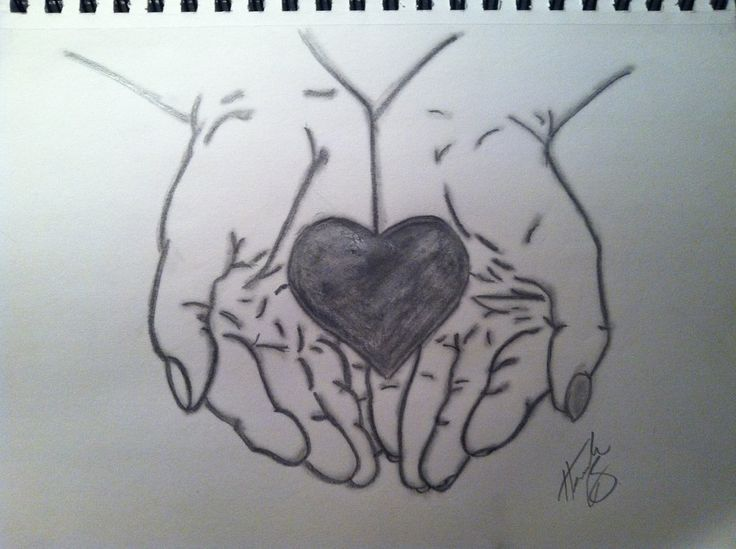 How to Draw hands holding rose | Hand Holding Heart Drawing Hands holding heart by