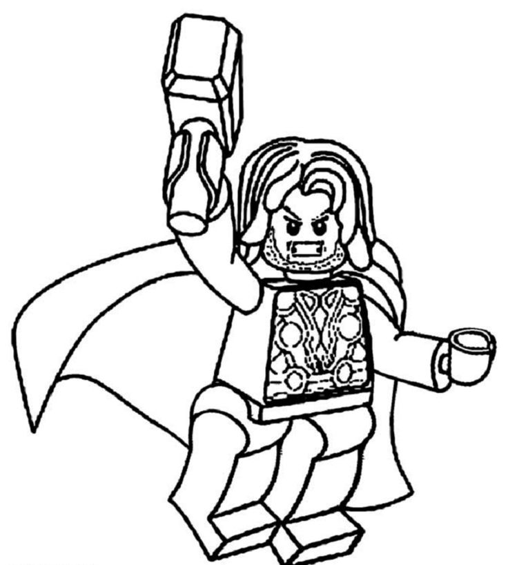 Lego Coloring Pages thor (With images)   Lego coloring ...