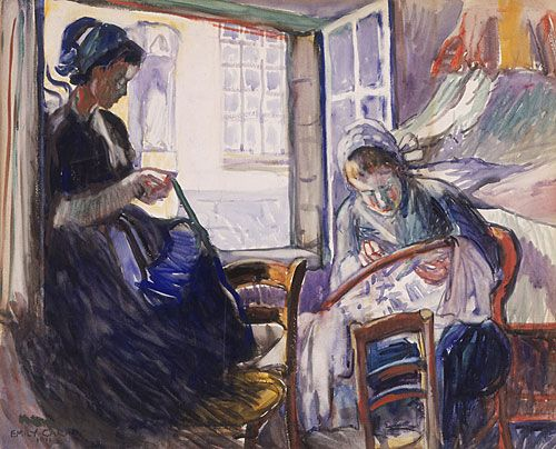 """""""Women of Brittany,"""" Emily Carr, 1911"""