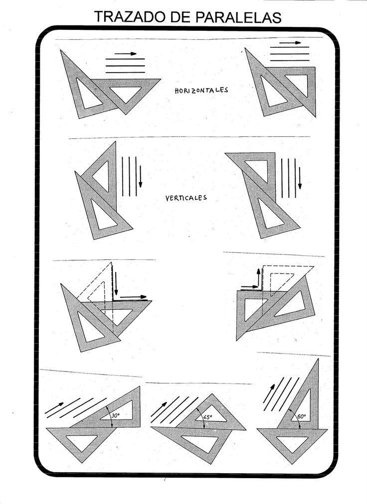 Cómo Trazar Paralelas Con La Escuadra Y El Cartabón Ejercicios De Dibujo Técnicas De Dibujo Dibujo Tecnico Ejercicios