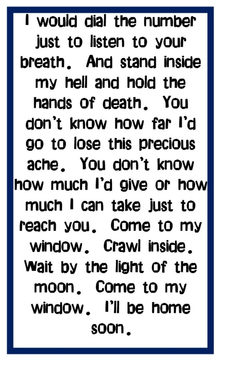 707 best lyrics that mean something3 images on pinterest music melissa etheridge come to my window song lyrics music stopboris Image collections