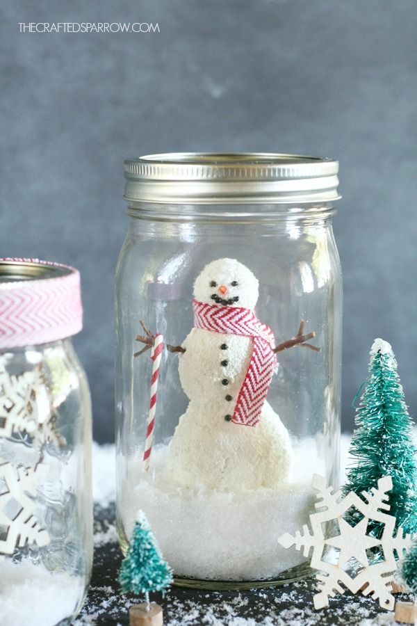 1000 images about projects to try on pinterest snoopy for Easy homemade christmas snow globes
