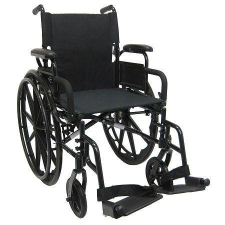 Karman 18in Seat Ultra Lightweight Wheelchair With Elevating Legrest - 1 Ea