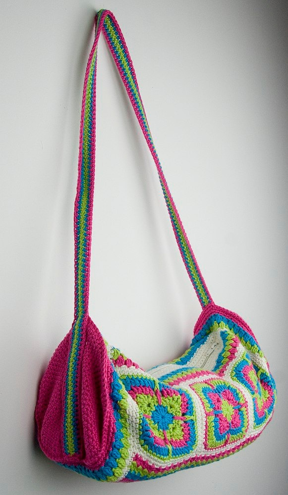 Colorful crochet bag for kids or teenagers for school or sportclasses.. $37.50, via Etsy.