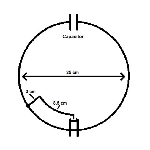 Photo: 144 MHz Loop Antenna Dimensions. The center