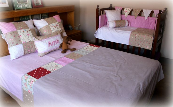 "Double-bed duvet cover & scatters in our ""Bloom"" range. For more info visit our website: www.tulatu.co.za"