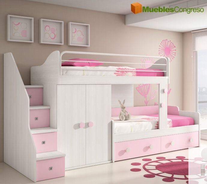 M s de 25 ideas incre bles sobre camas cuchetas en pinterest literas de ni os cama litera y - Disenar dormitorio juvenil ...