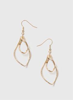 Gold Twist Drop Earrings