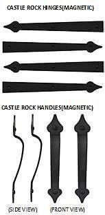 Castle Rock Magnetic Garage Door 2 Handles Amp 4 Hinges