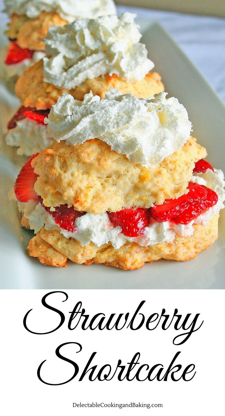 To me, this classic strawberry shortcake dessert is the herald of summertime…when I can make this with fresh, field picked strawberries I know that summer has truly arrived! DelectableCooking... | #strawberryshortcake #strawberrydessert #freshfruitdesserts #shortcake #whippedcream #summertimeclassics
