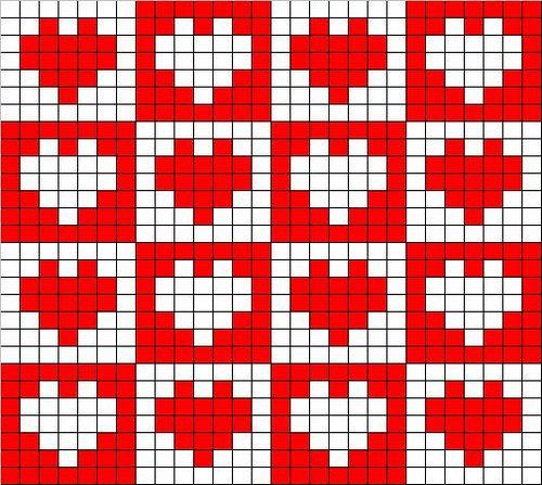 Chart for fielt crocheting or cross stitch: free-filet-crocheting.wz.cz/1-20/16.htm