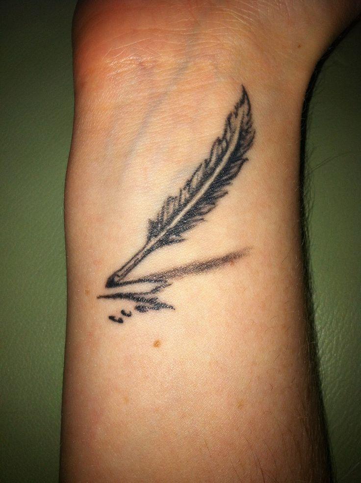 feather quill writer tattoo | Shhh...Tattoos | Pinterest