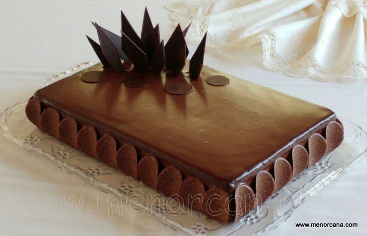 Tarta de chocolate con mousse de nutella - Ana en la cocina