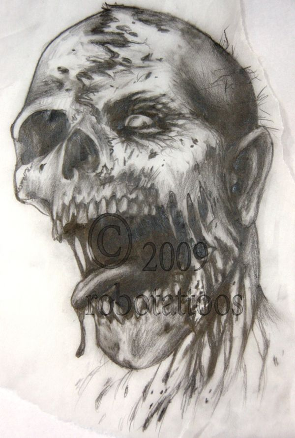 Gallery For Zombie Face Drawing | do you want to build a