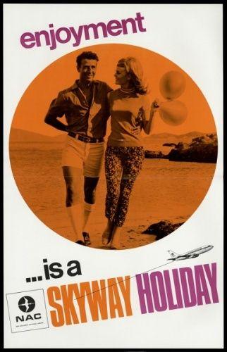 Air New Zealand Flying Social - 1970s Advertising