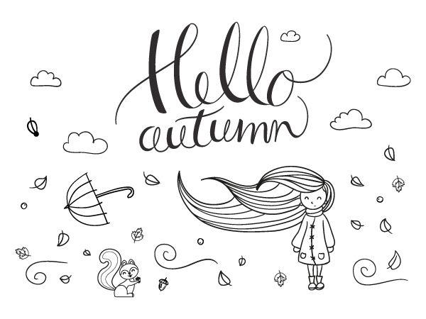 Raamdecoratie Herfst - Krijtstifttekening.  Waai lekker mee met deze krijtstift raamtekening voor een top herfstgevoel. #herfst #autumn #fall #chalkboard