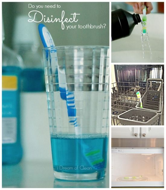 How to Disinfect a Toothbrush - i Dream of Clean