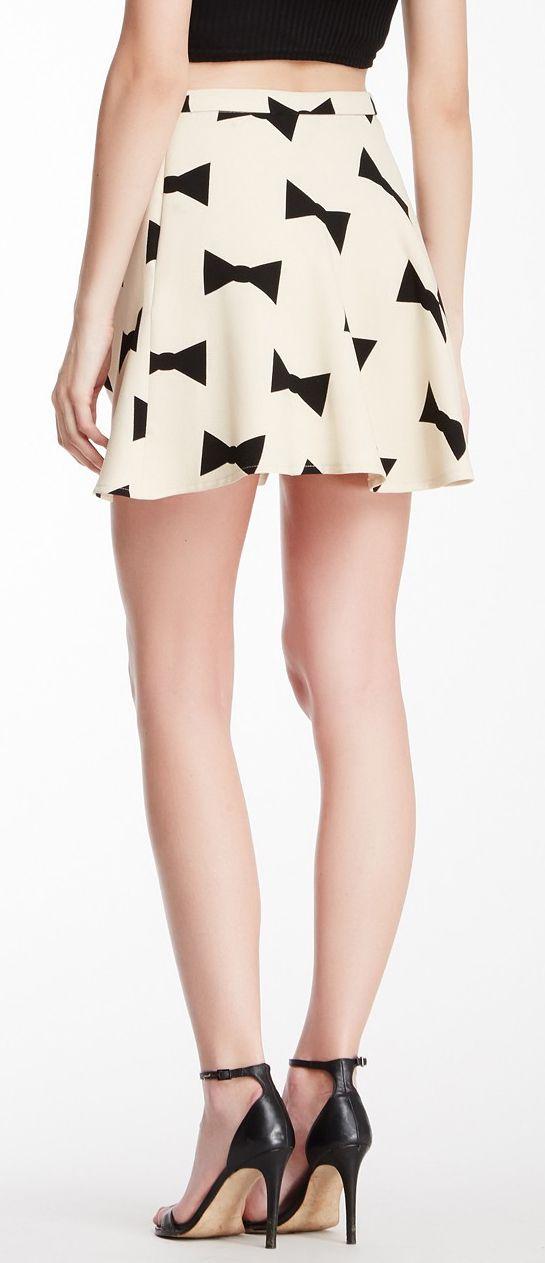 Bow skater skirt
