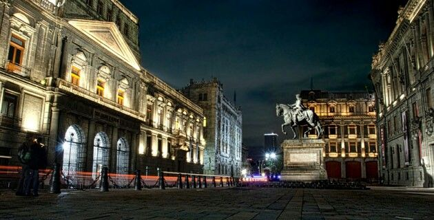 Manuel Tolsa square in Mexico city historical downtown. Mexico
