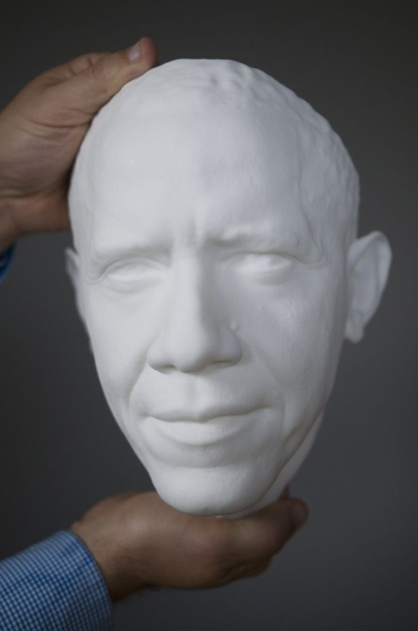 3ders.org - Barack Obama is the first President to be 3D scanned and printed | 3D Printer News & 3D Printing News