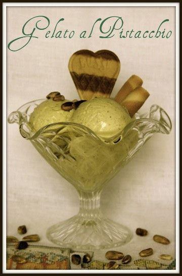 Ricetta gelato al pistacchio con la gelatiera.