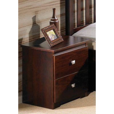 Contempo 2 Drawer Nightstand - http://delanico.com/nightstands/contempo-2-drawer-nightstand-604949409/
