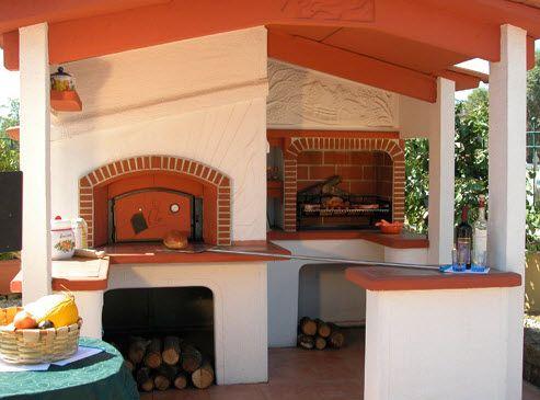 Oltre 25 fantastiche idee su forno in muratura su - Cucina in muratura per esterni con barbecue ...