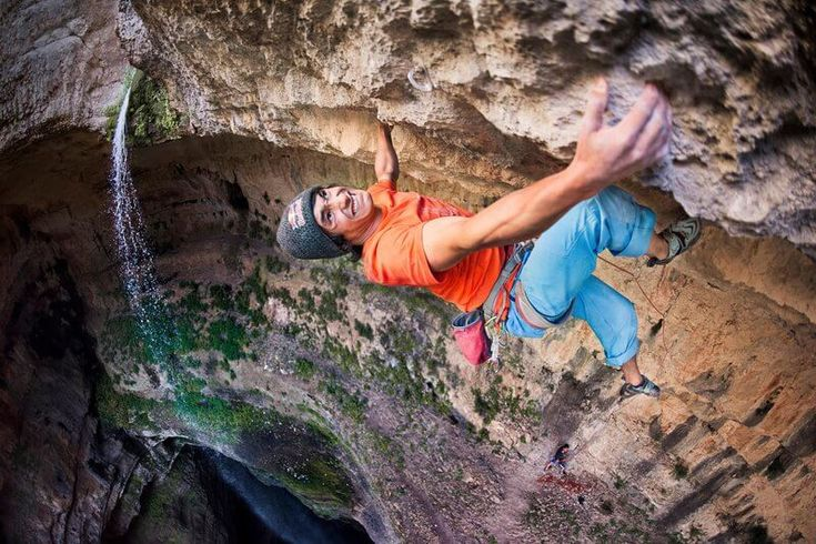 David Lama climbs in Lebanon