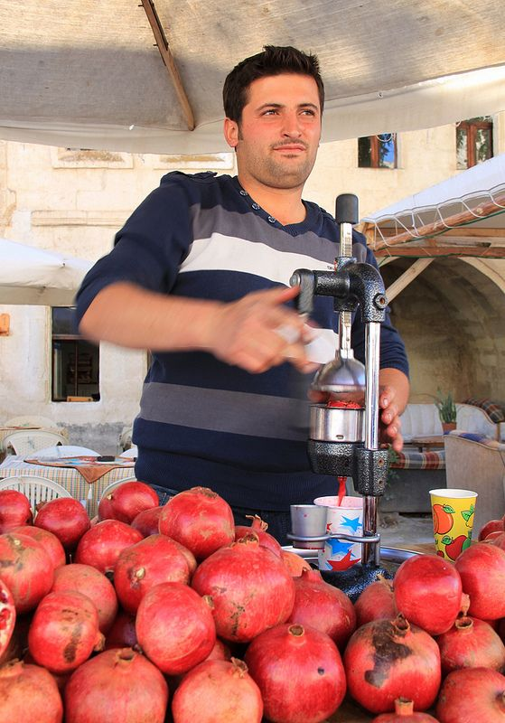 fresh pomegranate juice, Cappadocia, Turkey